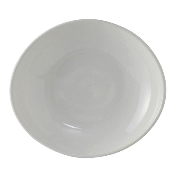 Tuxton BWB-105J DuraTux 10.5 oz. White Oval China Bowl - 12/Case