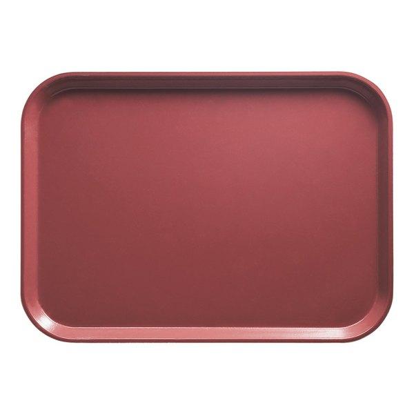 "Cambro 46410 4 1/4"" x 6"" Rectangular Raspberry Cream Customizable Fiberglass Camtray - 12/Case"