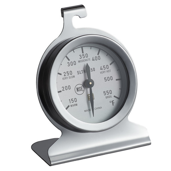 """2"""" Stainless Steel Dial Oven Thermometer - NSF"""
