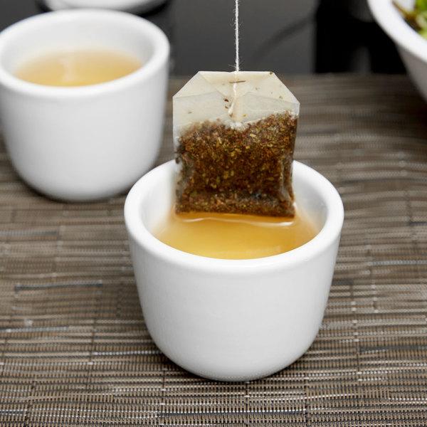 Tuxton ALF-0455 DuraTux 4.5 oz. Bright White Chinese / Asian Sake Tea Cup - 36/Case