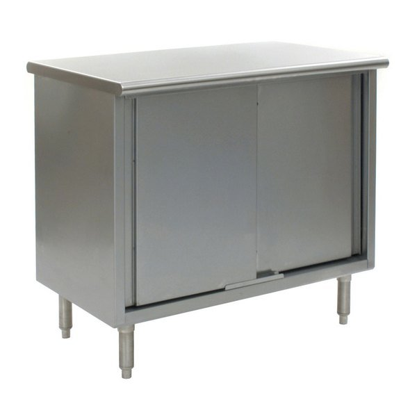 """Eagle Group CB2484SE 24"""" x 84"""" Work Table with Cabinet Base"""