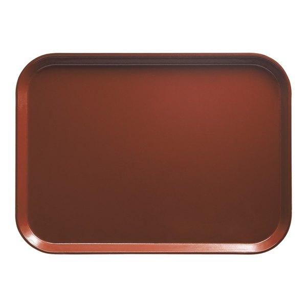 """Cambro 810501 8"""" x 9 7/8"""" Rectangular Real Rust Customizable Fiberglass Camtray - 12/Case"""