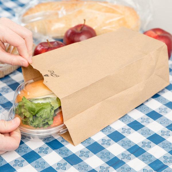 Duro 4 lb. Brown Paper Bag - 500/Bundle