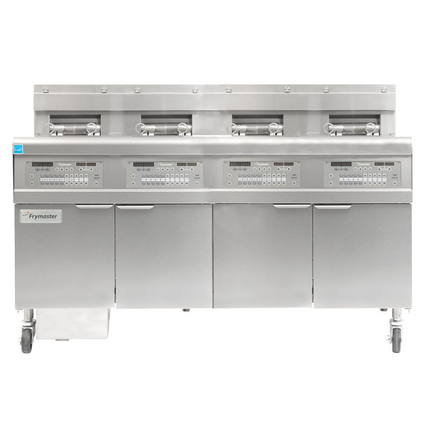 Frymaster FPGL430-8CA Liquid Propane Floor Fryer with Four Split Frypots and Automatic Top Off - 300,000 BTU Main Image 1