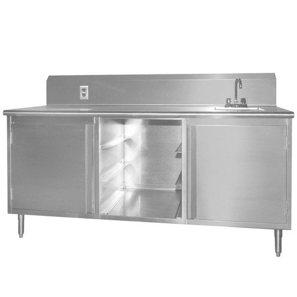 """Sink on Right Eagle Group BEV3084SE-10BS Beverage Table - 84"""""""
