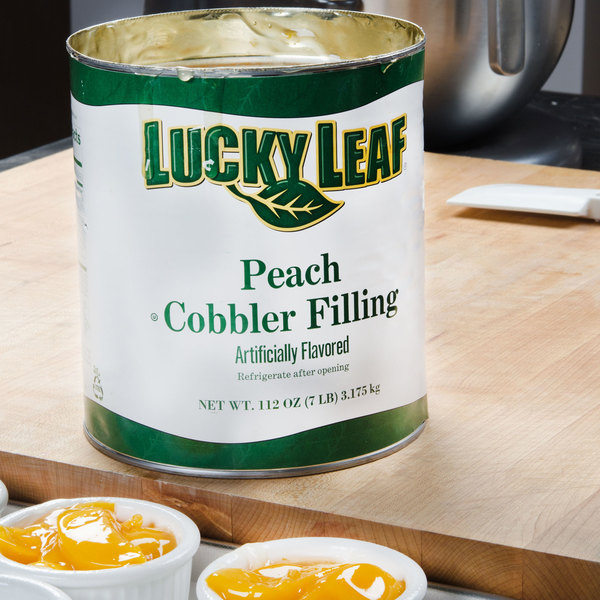 Lucky Leaf #10 Can Peach Cobbler Filling - 6/Case