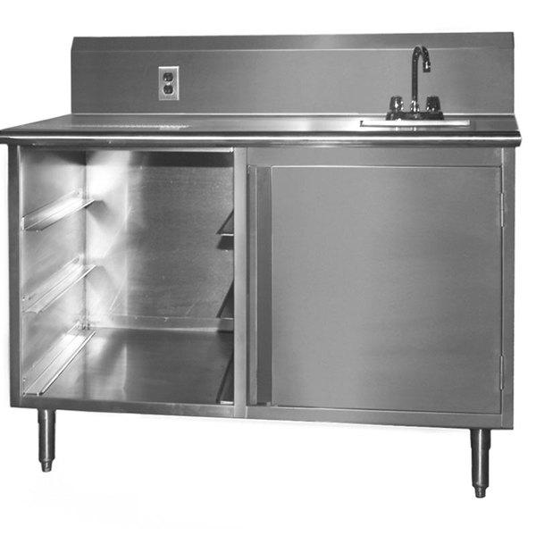 """Sink on Right Eagle Group BEV3048SE-10BS Beverage Table - 48"""" Main Image 1"""