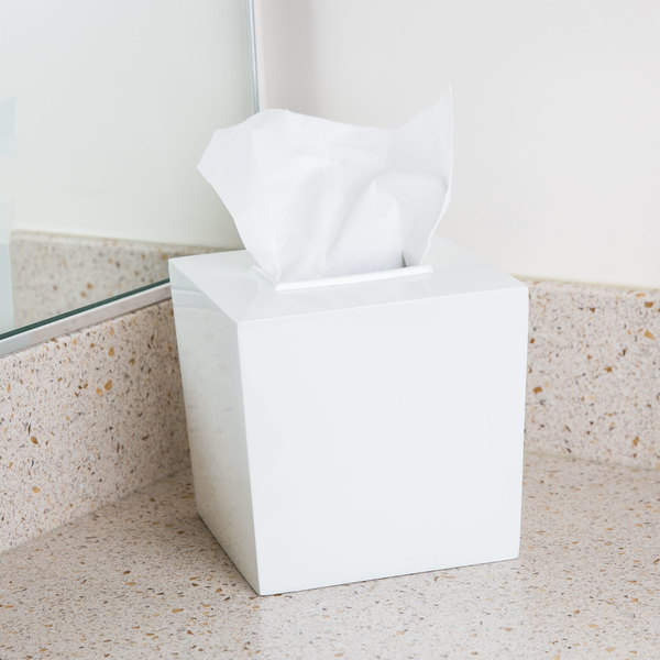 Bathroom Collections BS-SPA9W Spa White Hotel Tissue Box Cover