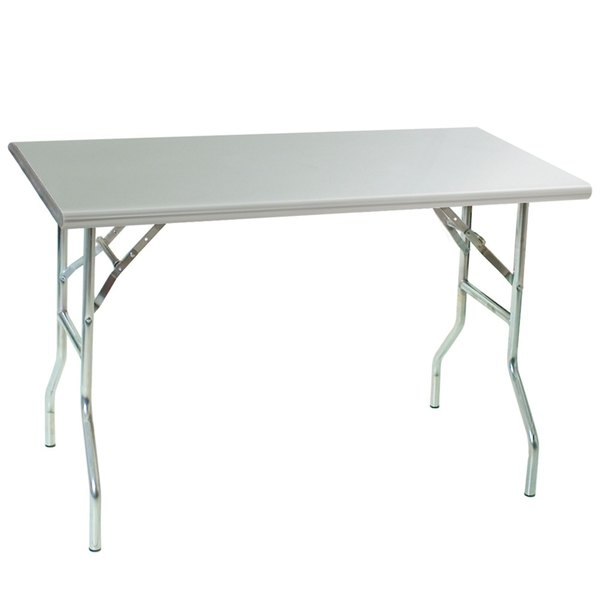 """Eagle Group T2448F 24"""" x 48"""" Stainless Steel Lok-n-Fold Open Base Table"""