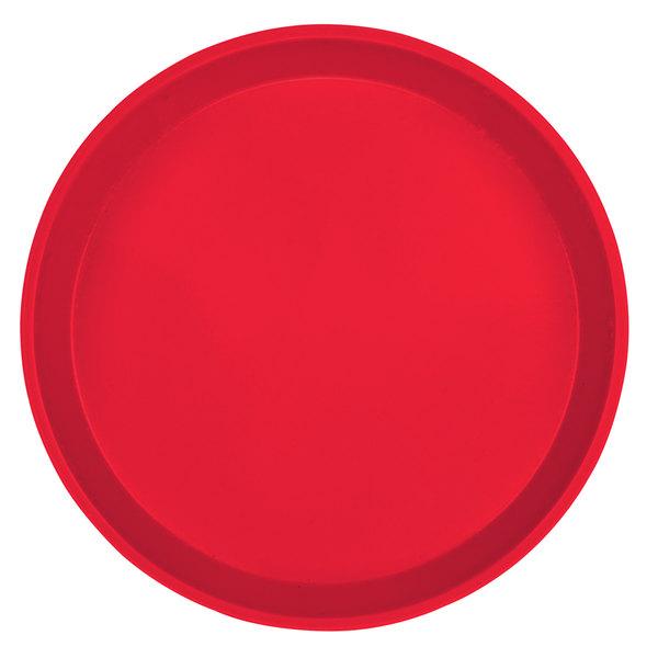 """Cambro 1600521 16"""" Round Cambro Red Customizable Fiberglass Camtray - 12/Case"""