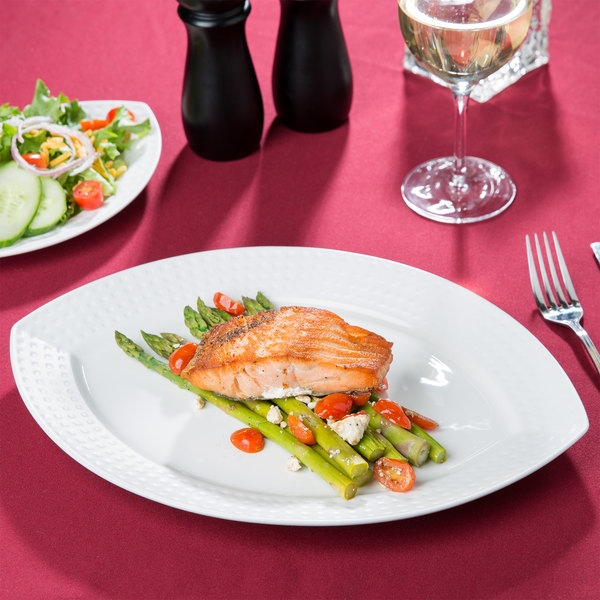 """Chef & Sommelier S0460 Satinique 13"""" x 9 5/8"""" Oval Platter by Arc Cardinal - 6/Case"""