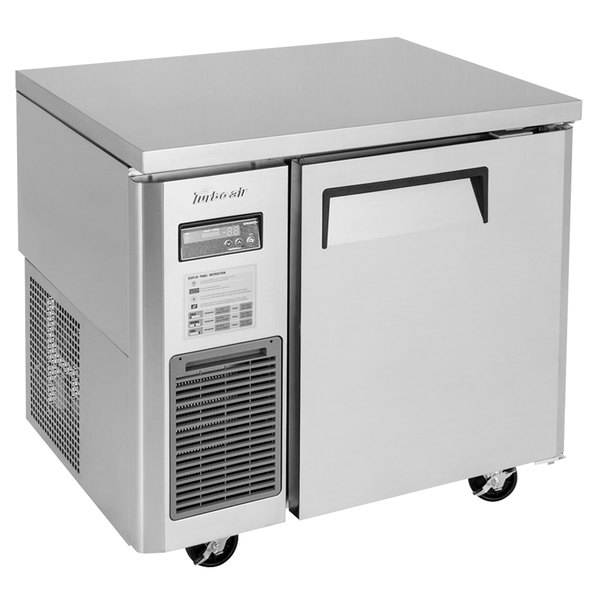 """Turbo Air JUR-36-N6 J Series 36"""" Solid Door Undercounter Refrigerator with Side Mounted Compressor Main Image 1"""