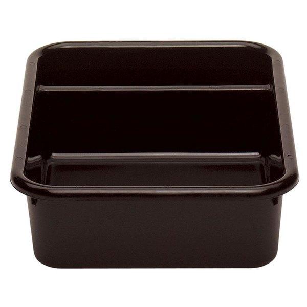 """Cambro 1621CBR131 Regal Cambox 21"""" x 16"""" x 5"""" Dark Brown Two Compartment Plastic Bus Box"""