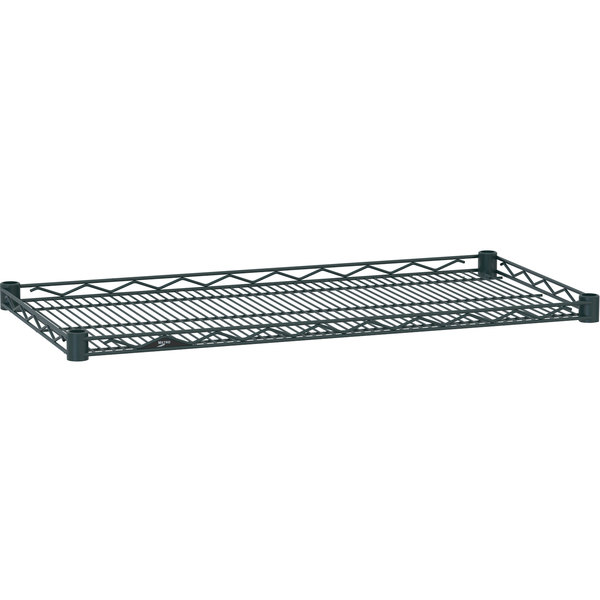 "Metro HDM2424-DSG Super Erecta Smoked Glass Drop Mat Wire Shelf - 24"" x 24"""