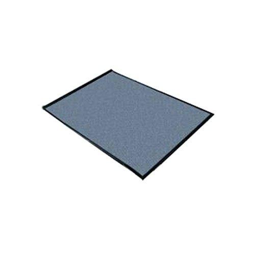 "Cactus Mat 1470M-34 3' x 4' Gray Machine Washable Rubber-Backed Carpet Mat - 3/8"" Thick"