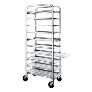 """Winholt AL-1010 End Load Aluminum Platter Cart - Ten 10"""" Trays"""