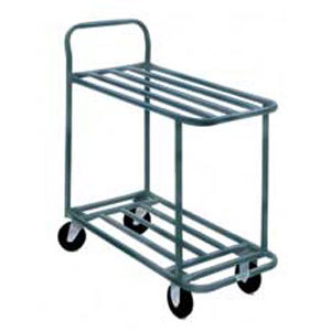 "Winholt 110 Two Shelf Steel Stocking Cart - 41"" x 18"""