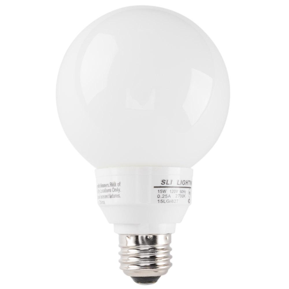 Mini Lynx 14 Watt (60 Watt Equivalent) Compact Fluorescent Globe Light Bulb - 120V ...  sc 1 st  Webstaurant Store & Commercial Light Bulbs | Lighting Products azcodes.com