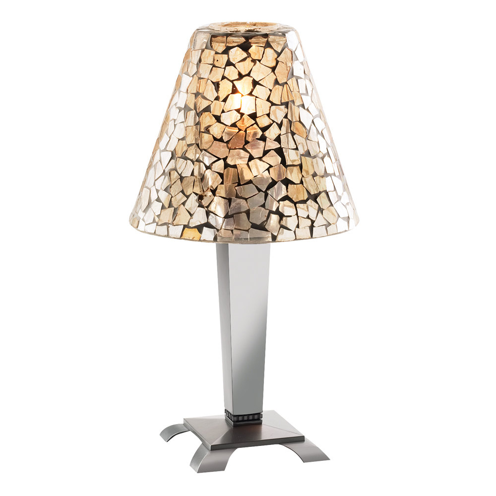 Sterno products 85462 light gold mosaic lamp shade image preview audiocablefo