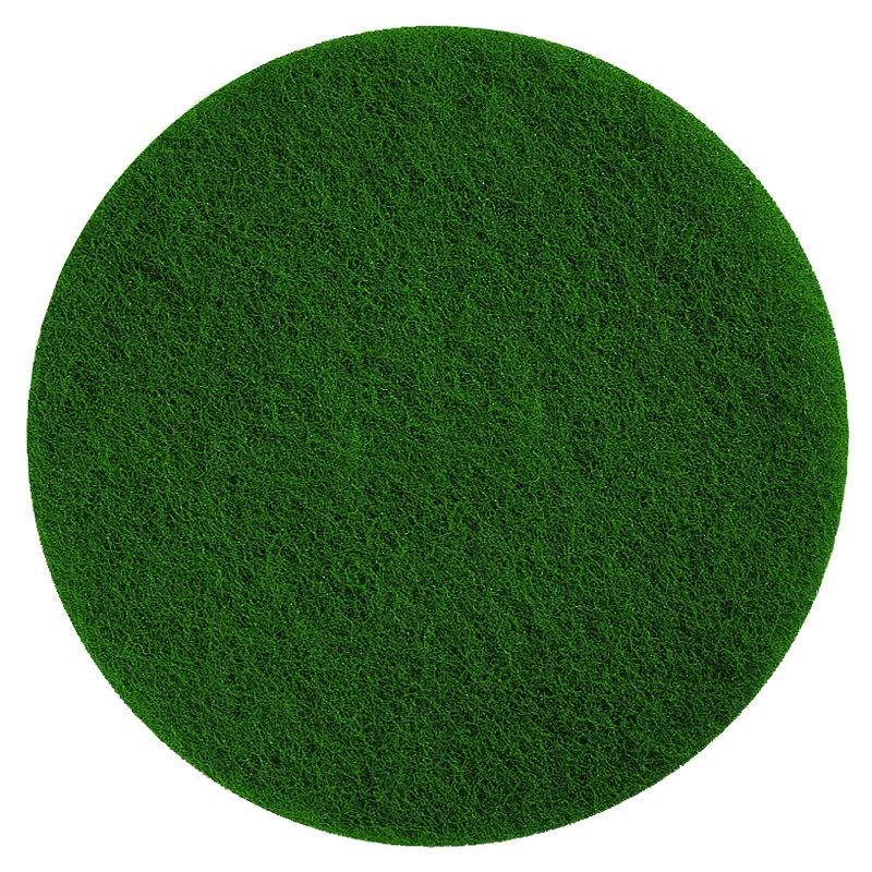 "Scrubble by ACS 55-6 1/2 Type 55 6 1/2"" Green Scrubbing Floor Pad - 10/Case"
