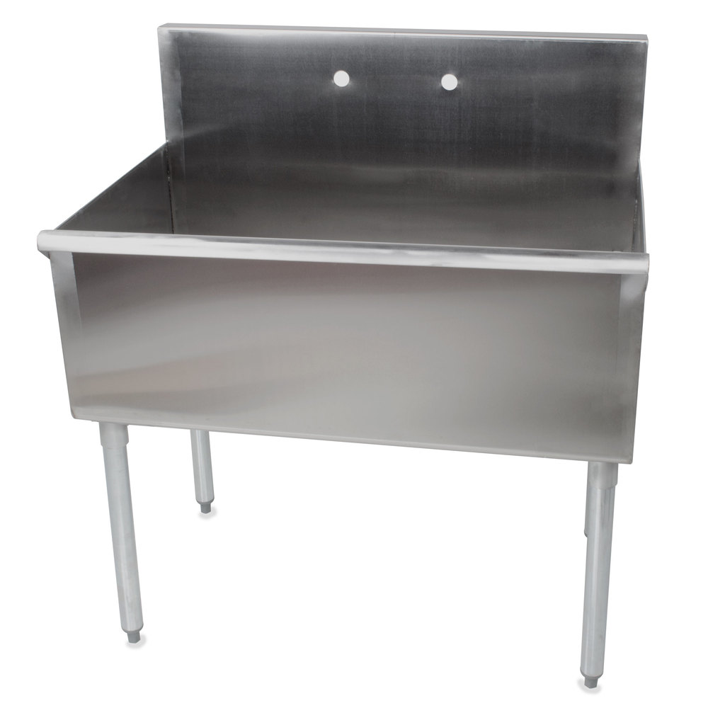 Genial Regency 36 Inch 16 Gauge Stainless Steel One Compartment Commercial Utility  Sink   36 Inch ...