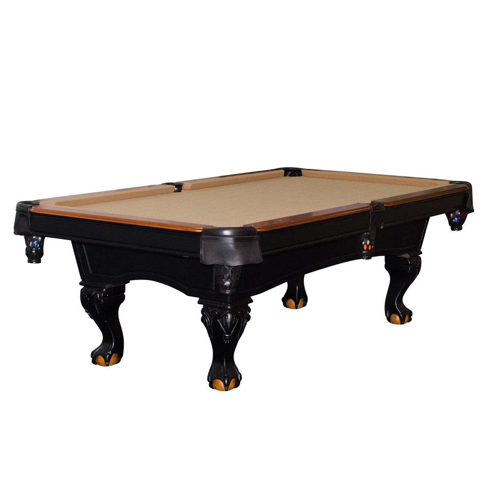 Minnesota Fats MFT800 TBL Covington 8u0027 Tan Billiard / Pool Table With  Accessories ...