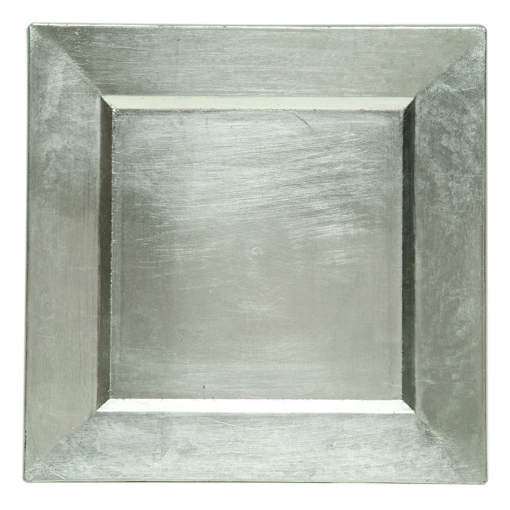 The Jay Companies A81HR-13 13 inch x 13 inch Square Silver Polypropylene Charger Plate  sc 1 st  WebstaurantStore & Plastic Charger Plates - WebstaurantStore
