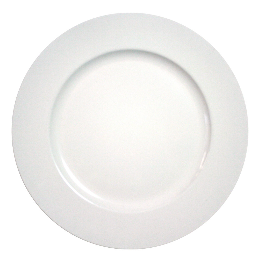 "The Jay Companies 13"" Round White Polypropylene Charger Plate"