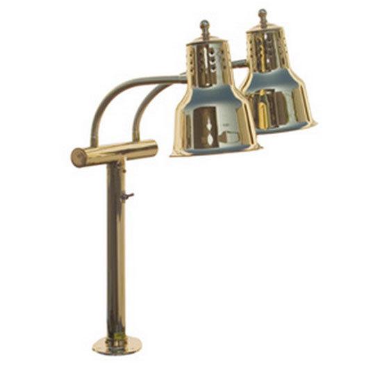 Hanson Heat Lamps EDL/FM/BR Dual Bulb Flexible Heat Lamp with Brass Finish Main Image 1