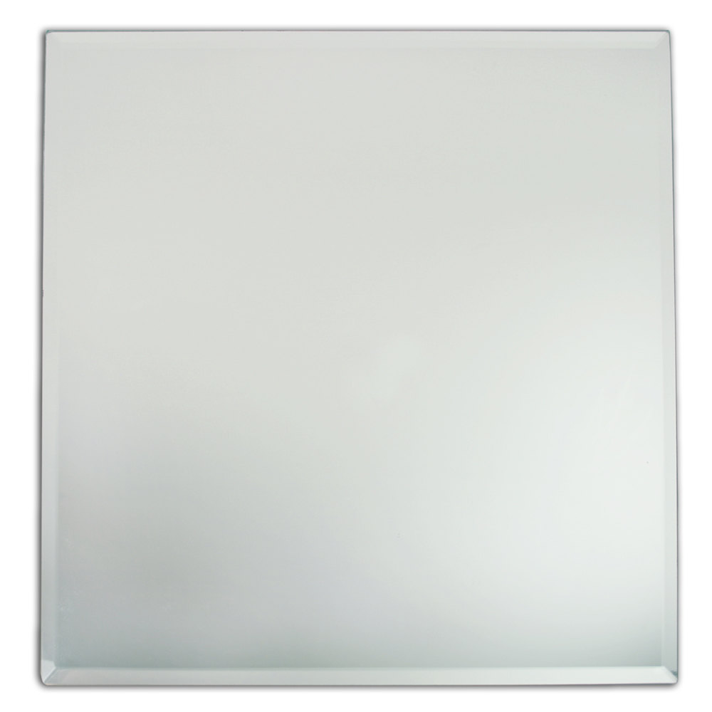 The Jay Companies 13 Quot X 13 Quot Square Glass Mirror Charger Plate