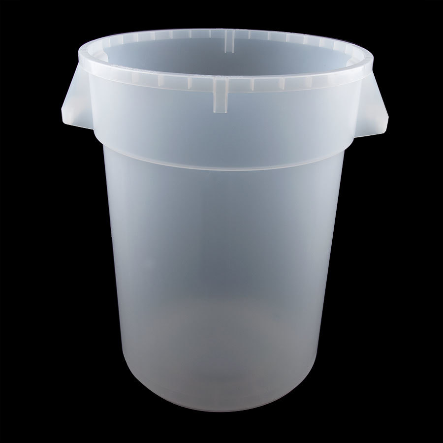 Continental 3200cl 32 Gallon Clear Huskee Trash Can