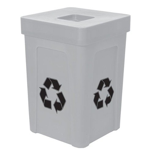 IRP 1070 Gray Stacking Flat Lid Recycle Bin - 48 Gallon