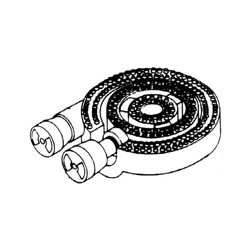 """All Points 24-1212 12"""" Cast Iron 3 Ring Burner Assembly"""