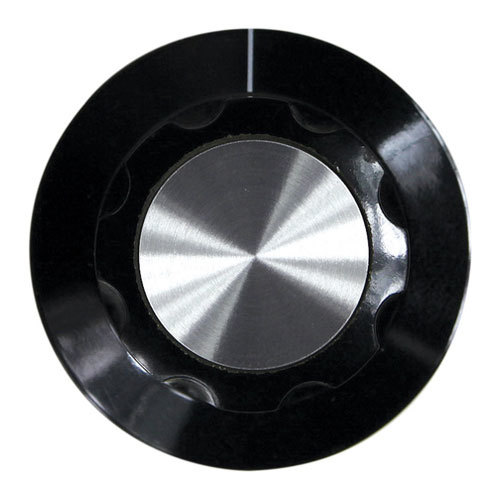 """All Points 22-1522 2"""" Black and Silver Warmer Thermostat Indicator Knob"""