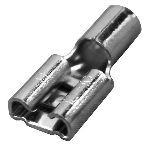"All Points 85-1013 Nickel Plated Female Quick Disconnect; 1/4"" Tab; Wire Gauge: 10 - 100/Box"