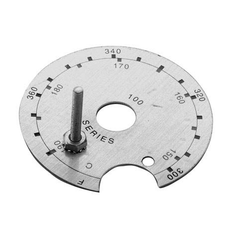 Garland / US Range 1292201 Equivalent Thermostat Dial Plate (300-375) Main Image 1
