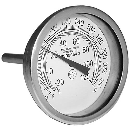 """All Points 62-1103 Dishwasher Thermometer; 0 - 250 Degrees Fahrenheit; 1/4"""" MPT Back Mount"""