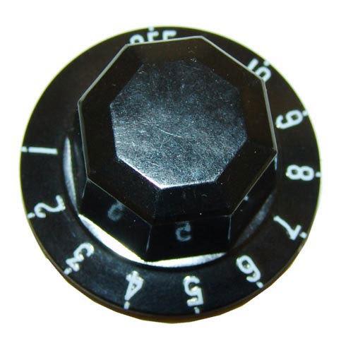 "All Points 22-1575 2"" Black Steamer Indicator Knob (Off, 1-10)"