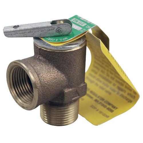 "Watts 0342629 Equivalent 15 PSI Bronze Steam Safety Relief Valve - 3/4"" NPT, 300 lb./Hour Main Image 1"