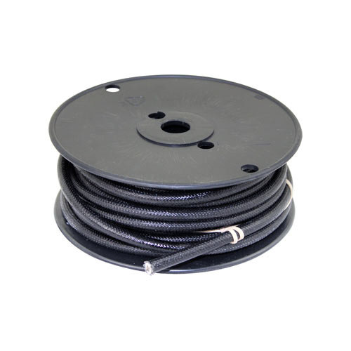 All Points 38-1309 High Temperature Wire; #10 Gauge; Stranded SF2; Black; 50' Roll Main Image 1