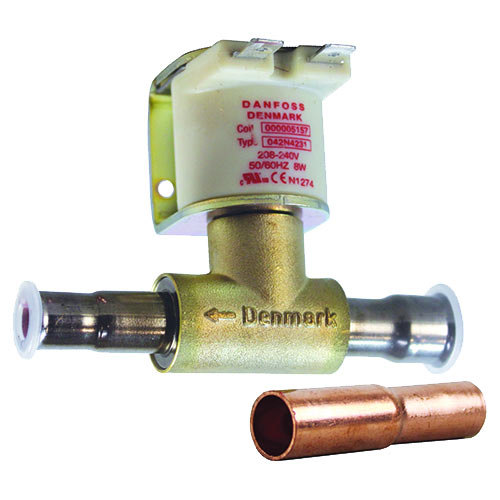 "All Points 58-1153 Solenoid; 1/2"" ODF x 3/8"" ODF Solder Fittings; 208/240V Main Image 1"
