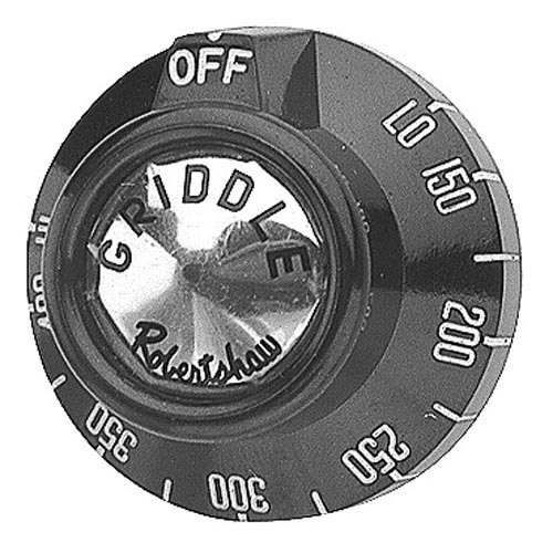 """Imperial 1101 Equivalent 2"""" Griddle BJ Thermostat Dial (Off, Lo, 150-400, Hi)"""