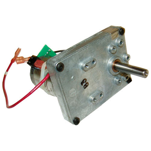 "Lincoln 369466 Equivalent Conveyor Oven Gear Motor; 18V DC; 3/8"" x 1 1/2"" Shaft with Keyway Main Image 1"