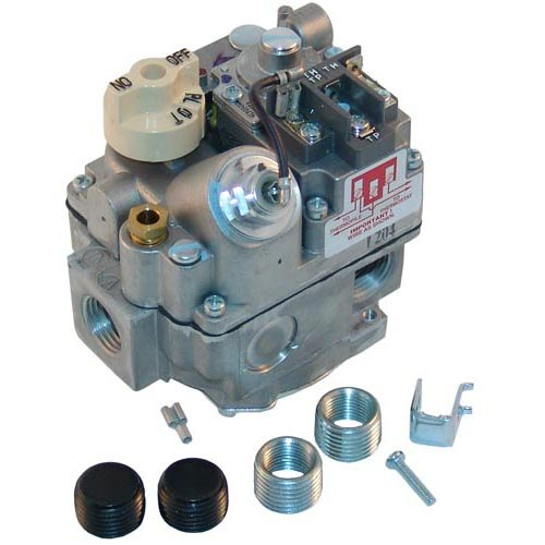 """Vulcan 13792 Equivalent Type AMVR Gas Safety Valve; Natural Gas; 1/2"""" Gas In / Out; (2) 1/2"""" Gas Out (Side); 1/4"""" Pilot Out; Millivolt Actuator Main Image 1"""