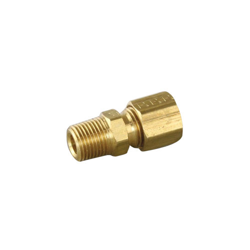 """All Points 26-1397 Male Connector; 1/8"""" MPT; 1/4"""" CCT Nut and Ferrule"""
