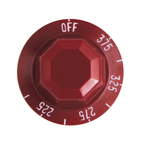 """All Points 22-1183 2"""" Red Fryer Thermostat Knob (Off, 225-375) Main Image 1"""