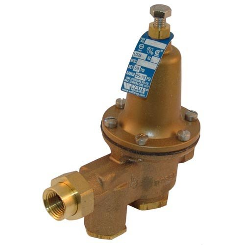 """Watts 0052977 Equivalent 1/2"""" NPT Water Pressure Reducing Valve - 300 PSI Max, 50 PSI Delivery Main Image 1"""