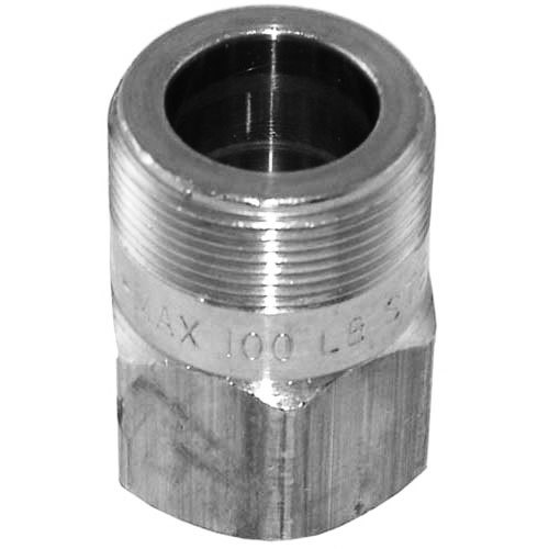 """Watts 142A3 Equivalent 1/2"""" MPT x 1"""" Feed Connector"""