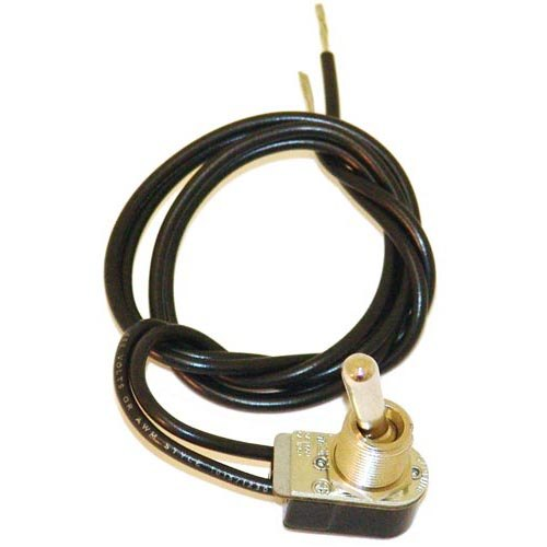 """All Points 42-1569 On/Off Toggle Switch with 17"""" Wire Leads - 3A/250V, 6A/125V"""