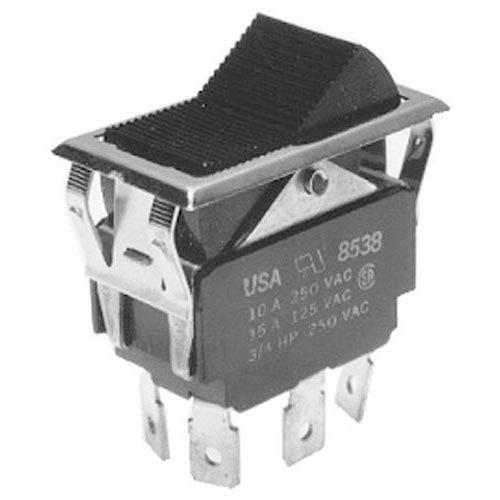Southbend 1011815 Equivalent On/Off/On Rocker Switch - 10A/250V, 15A/125V Main Image 1